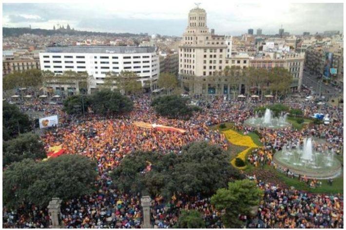 protesta unidad españa 12 octubre 2012