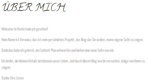 blog deutsch